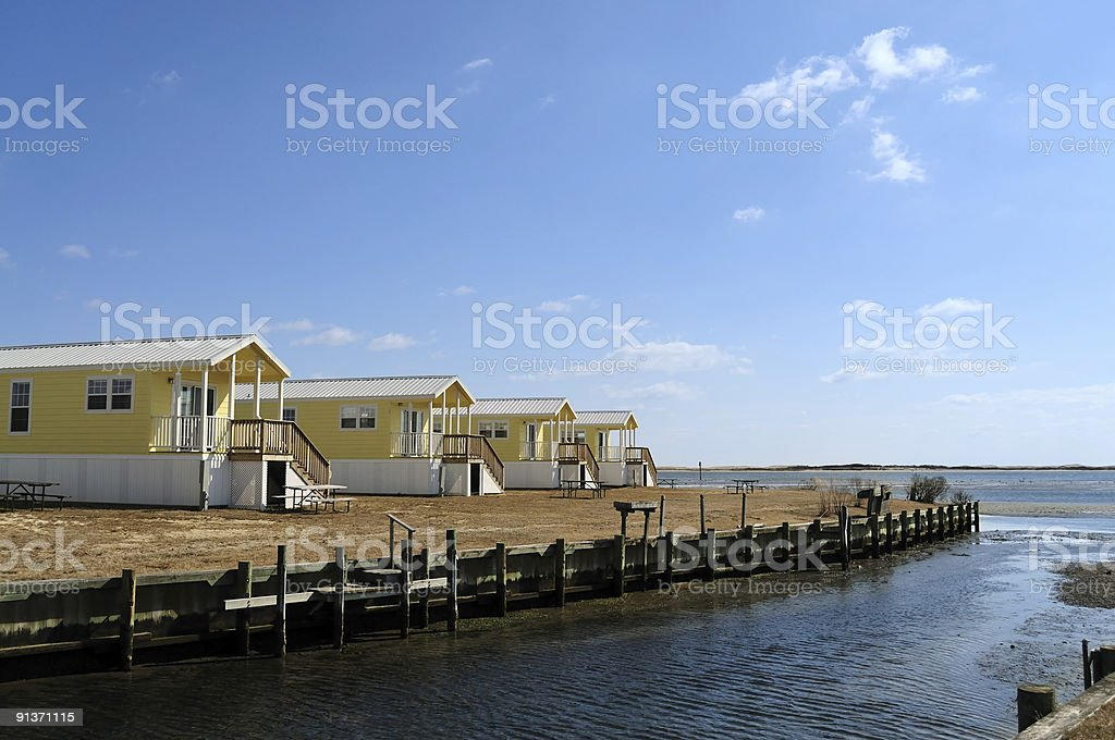 Beach Cabins stock photo