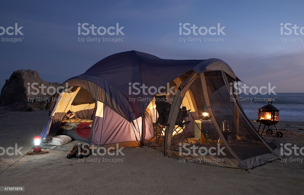 beach camping royalty-free stock photo