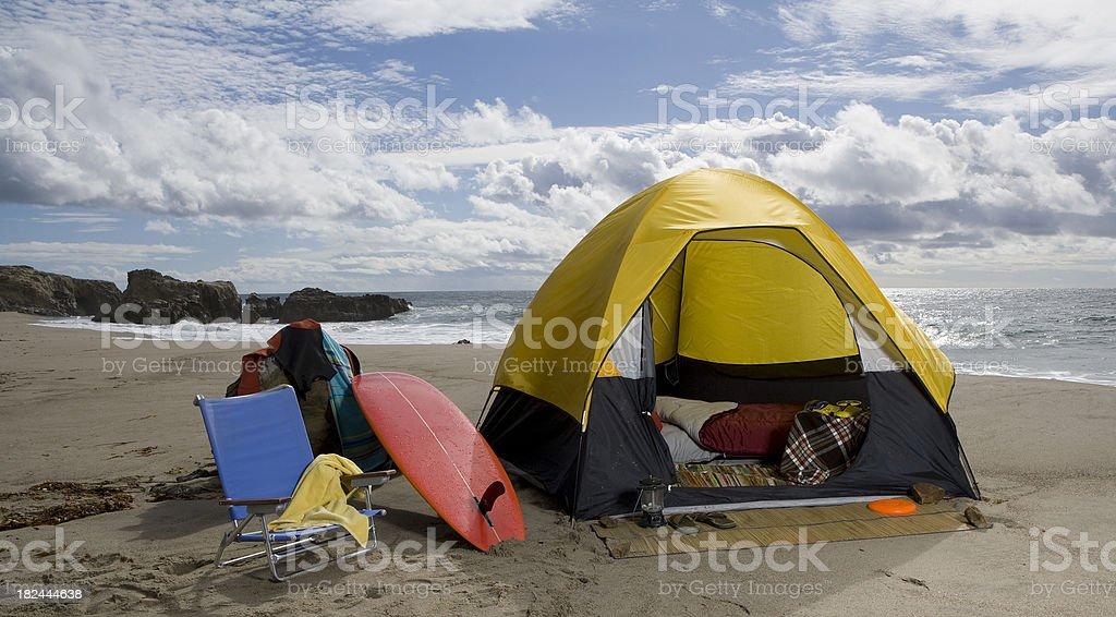 beach campsite royalty-free stock photo