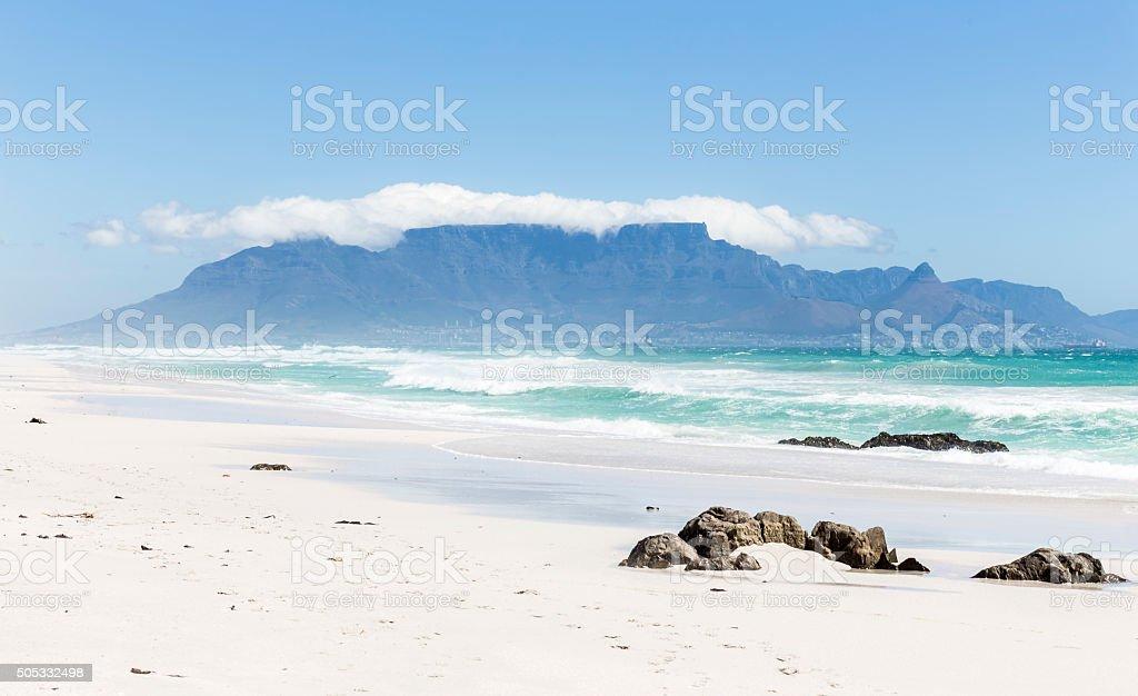 Beach - Cape Town - Table Mountain stock photo