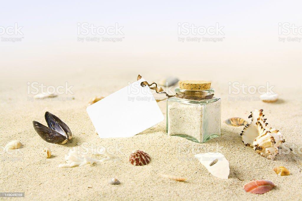 Beach card royalty-free stock photo