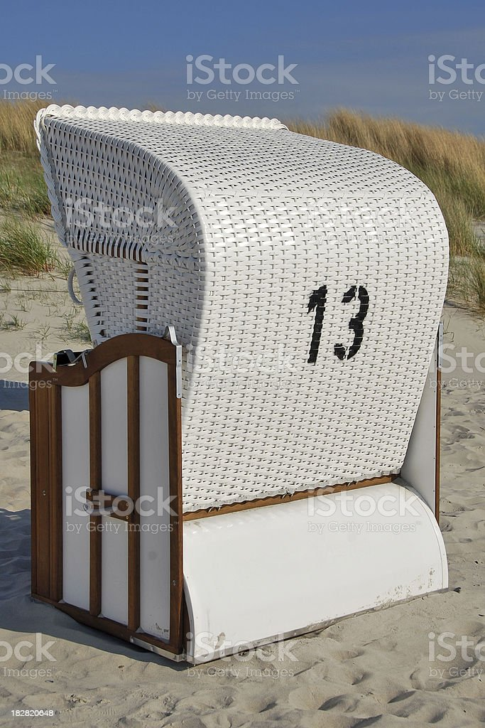 beach chair number 13 royalty-free stock photo