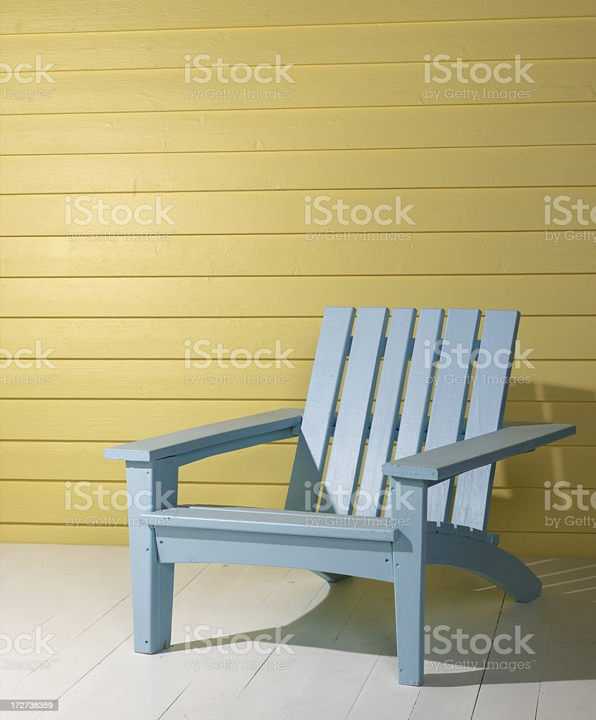 Beach Chair on Porch royalty-free stock photo