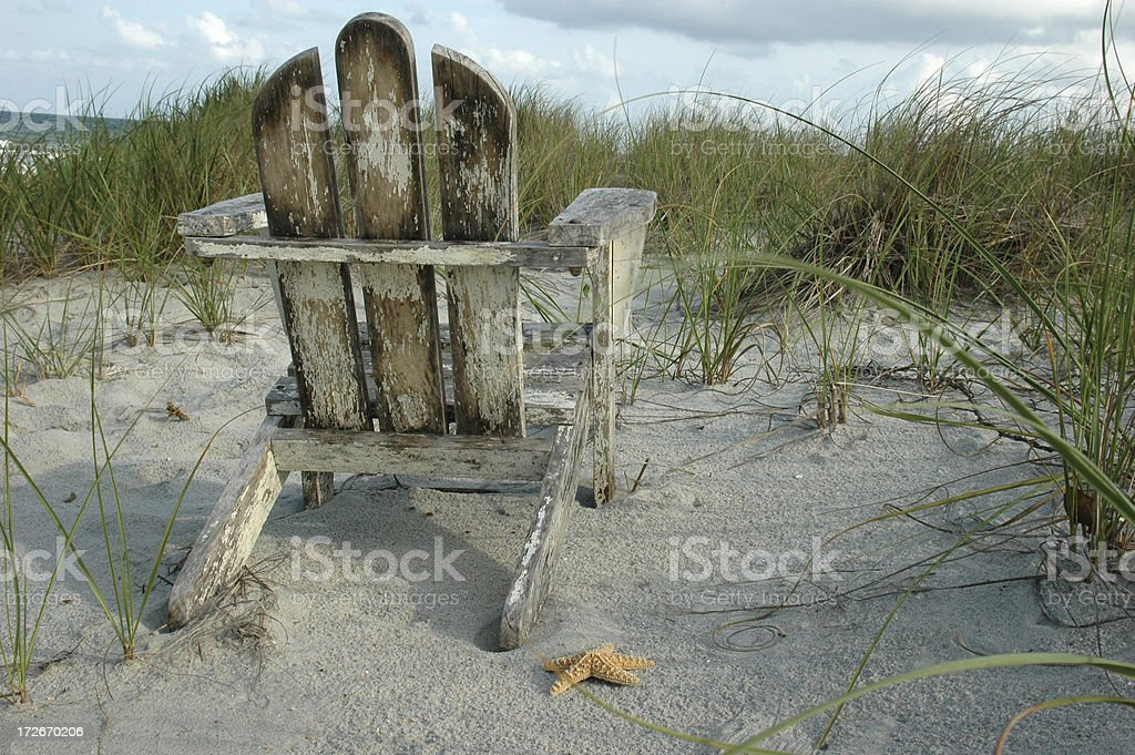 Beach chair with a view stock photo
