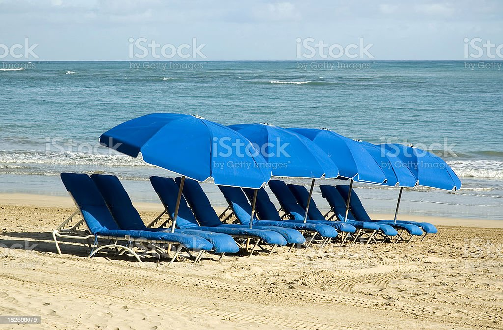 Beach Chairs at the Resort stock photo
