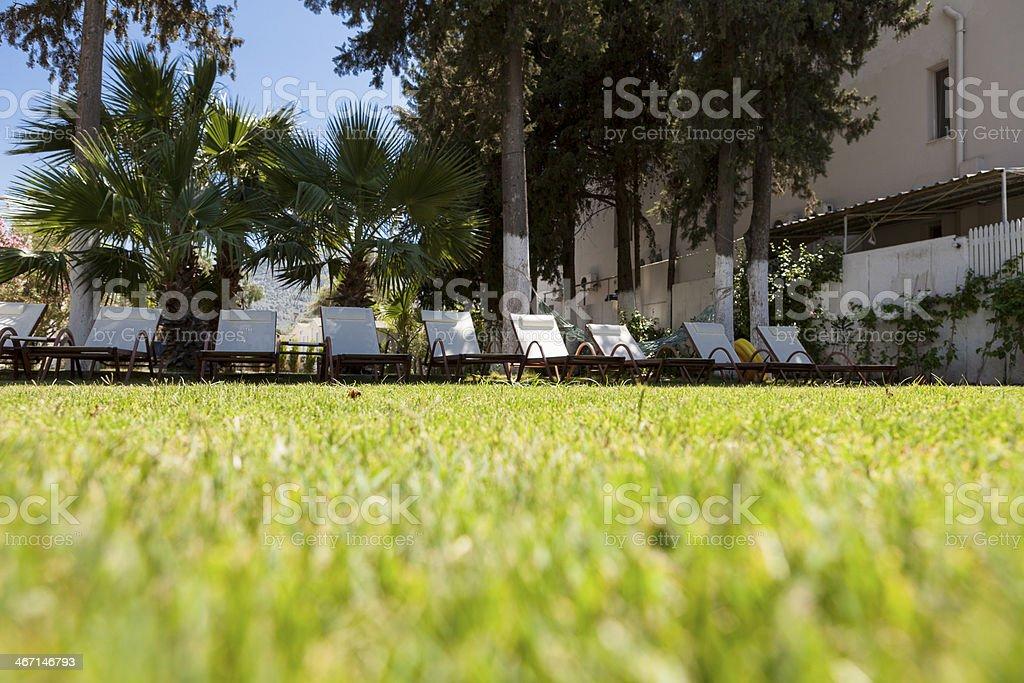 Beach chairs. royalty-free stock photo