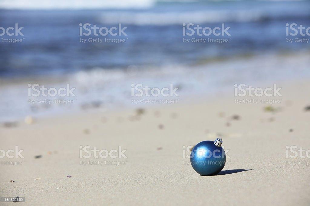 Beach Christmas Decoration royalty-free stock photo