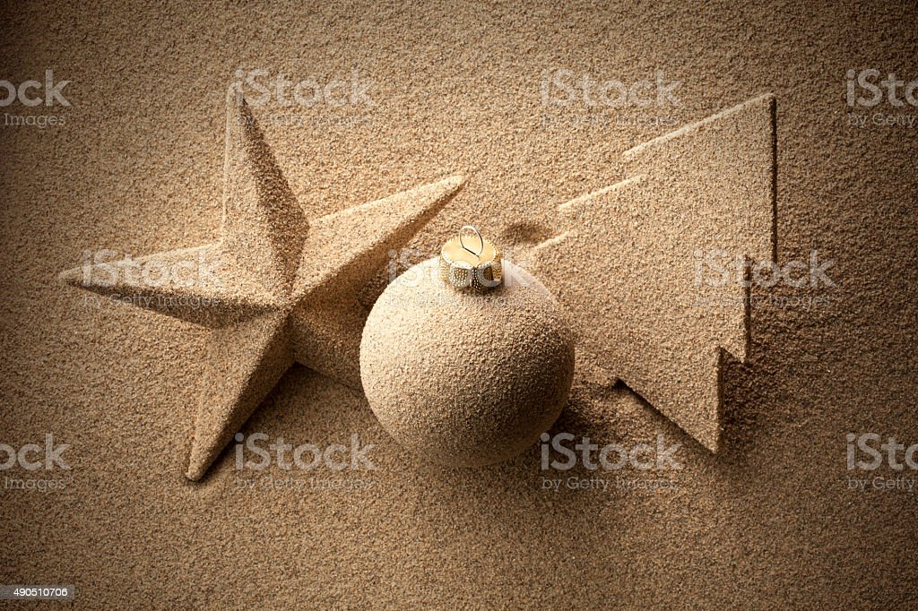 Beach Christmas stock photo