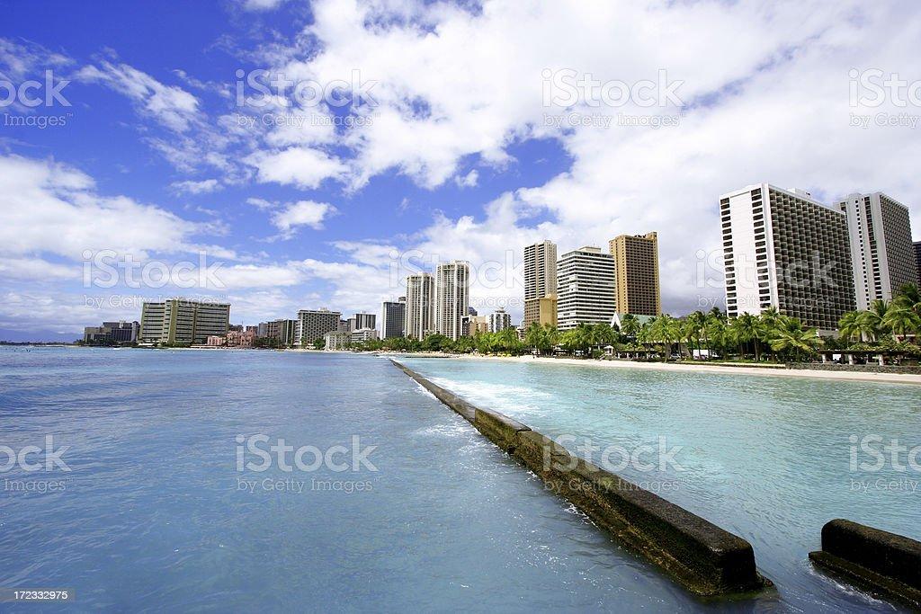 Beach City royalty-free stock photo