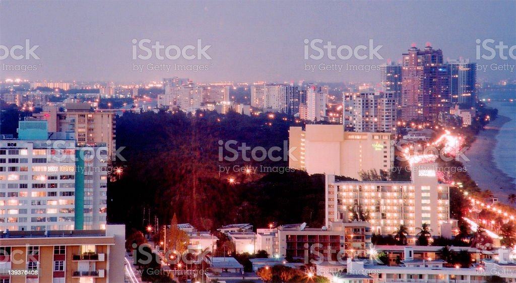 Beach City Scape royalty-free stock photo