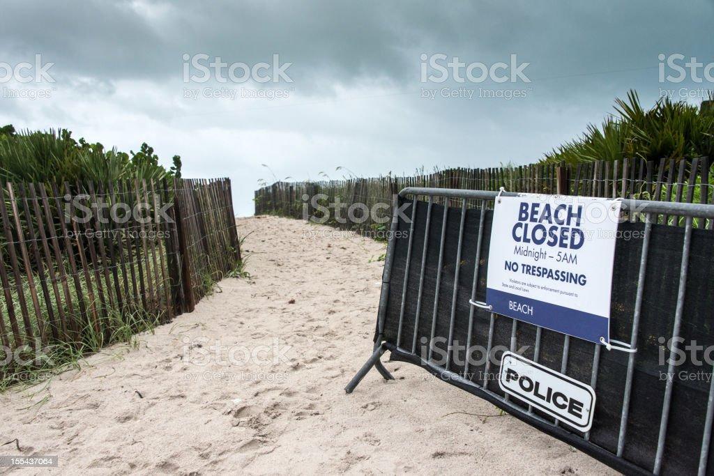 Beach Closed stock photo