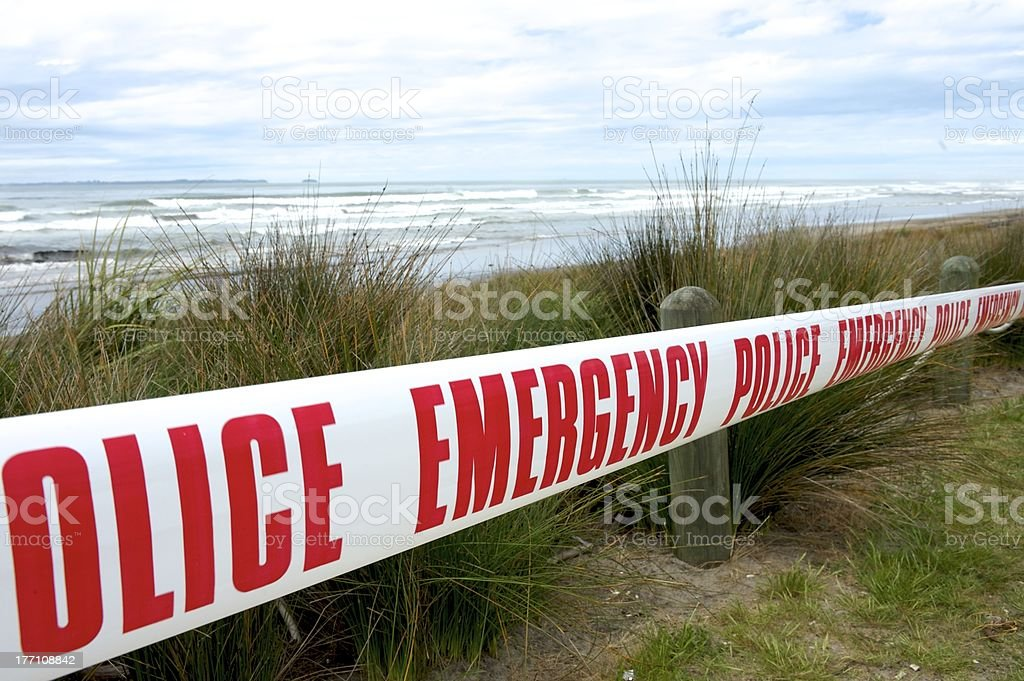 Beach closed royalty-free stock photo