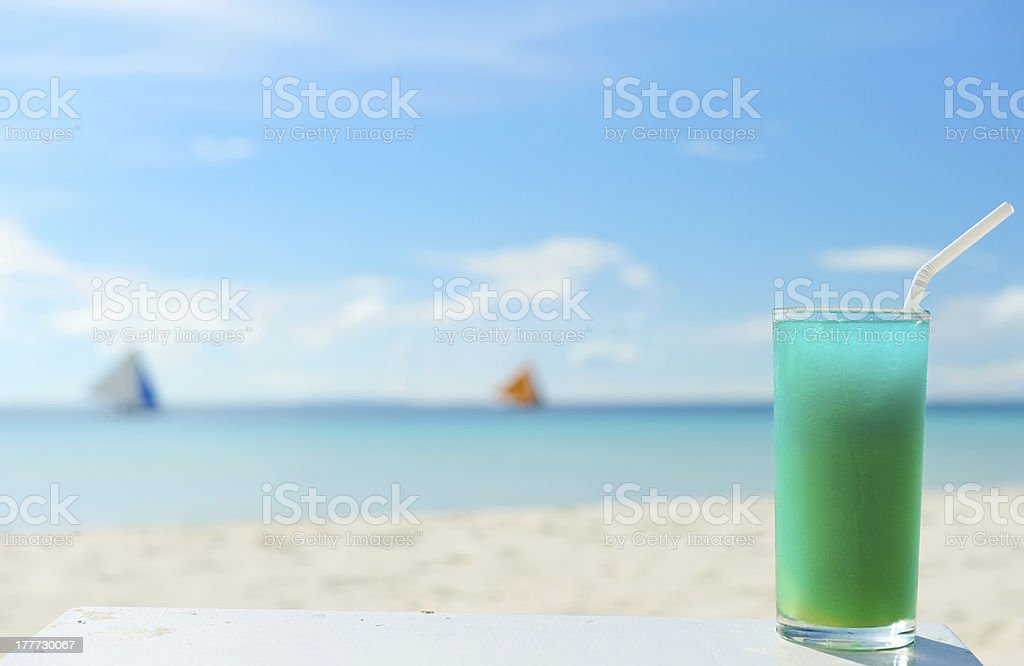 Beach cocktail stock photo
