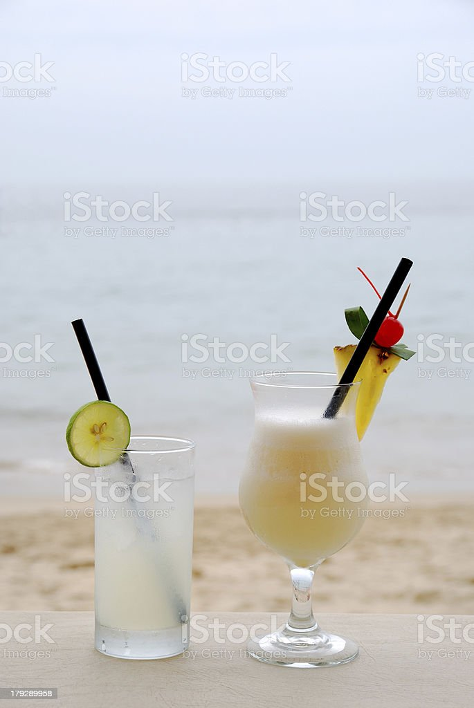 Beach cocktail royalty-free stock photo
