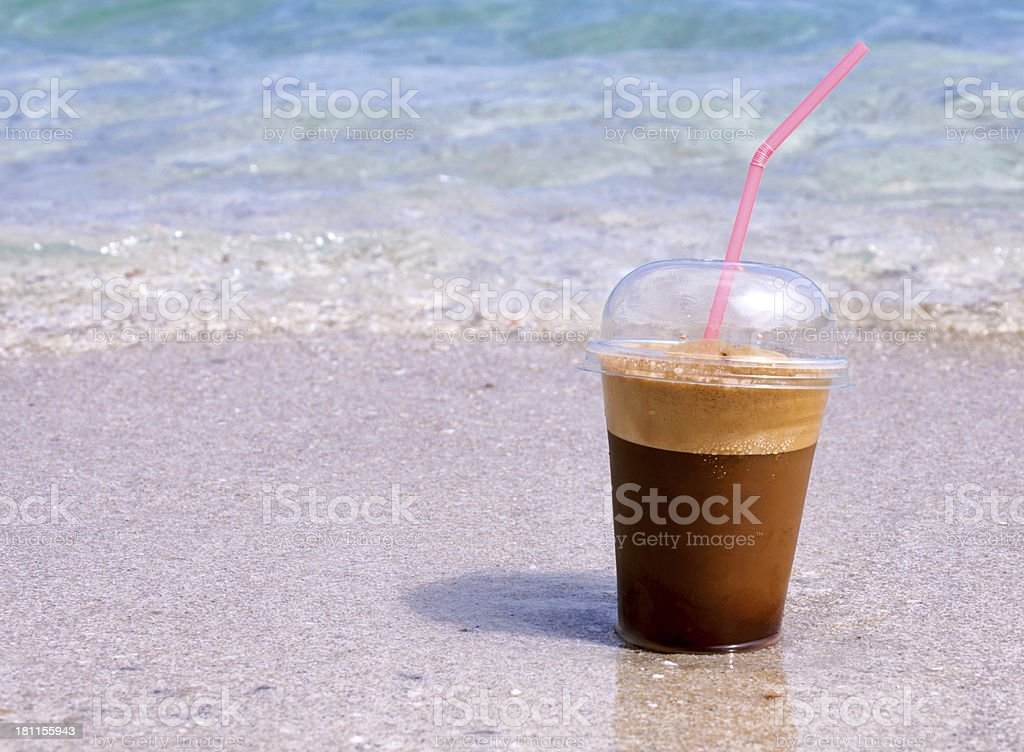 Beach coffee royalty-free stock photo
