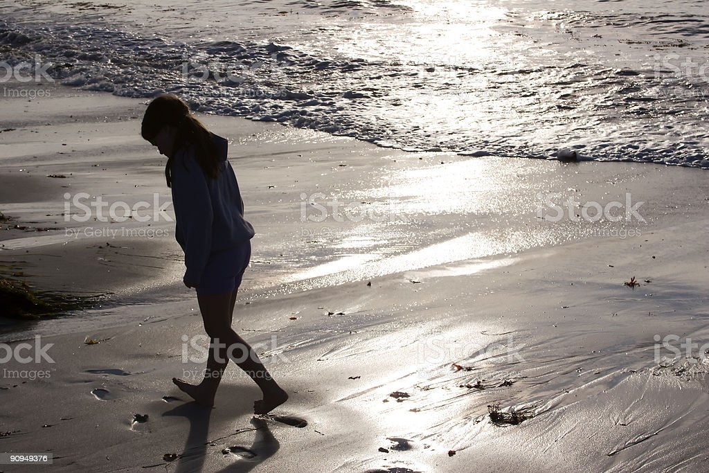 Beach Comber royalty-free stock photo