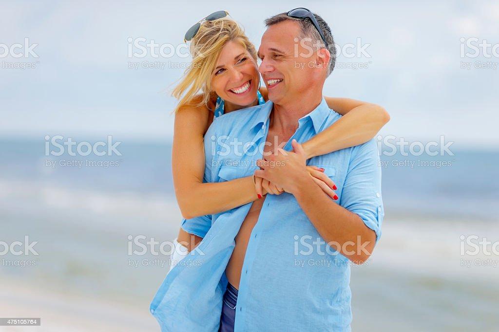 Beach Couple stock photo