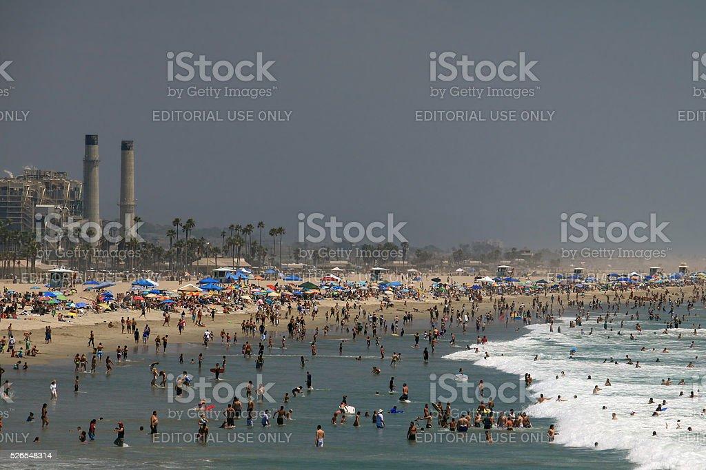 Beach Crowds stock photo