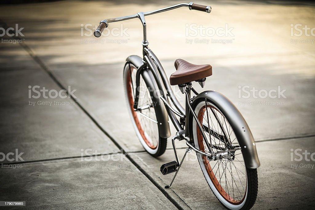Beach Cruiser Bike with no brand shown stock photo