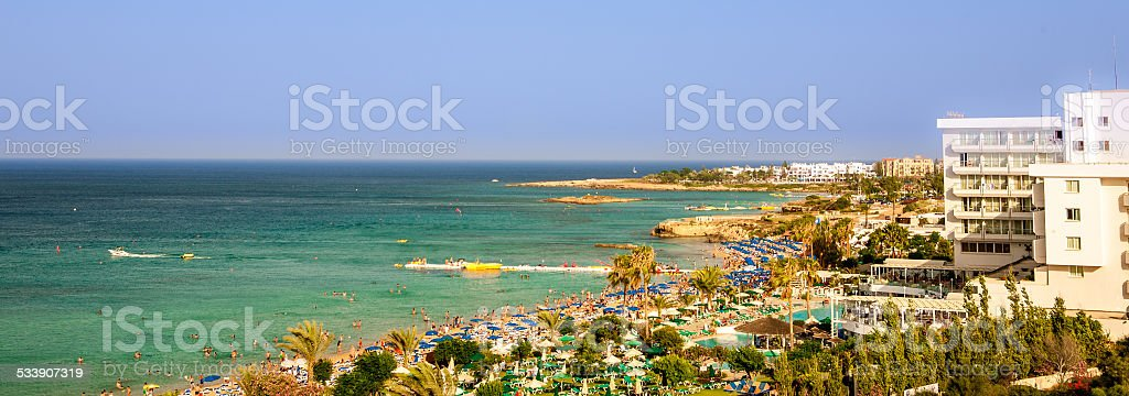 beach Cyprus stock photo