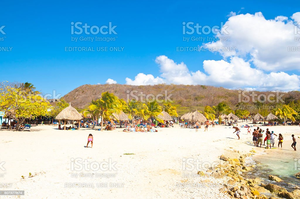 Beach Daai Booi Curacao stock photo