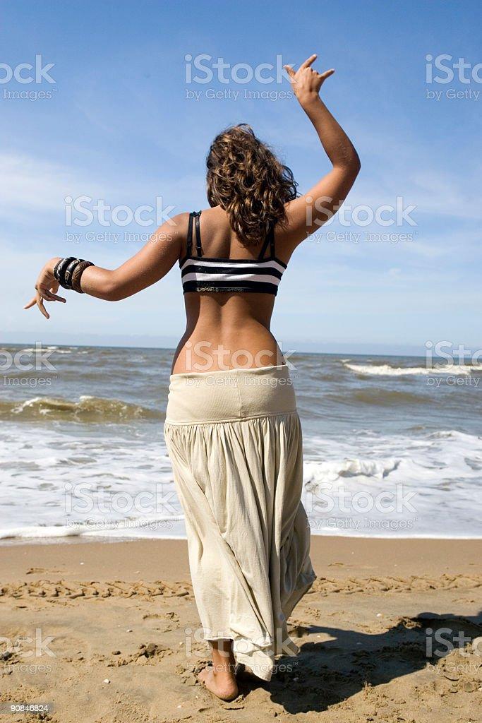 beach dance royalty-free stock photo