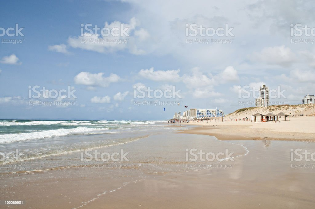 Beach designed for surfing and other sports. royalty-free stock photo