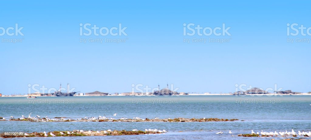 Plage, Djerba, Tunisie stock photo