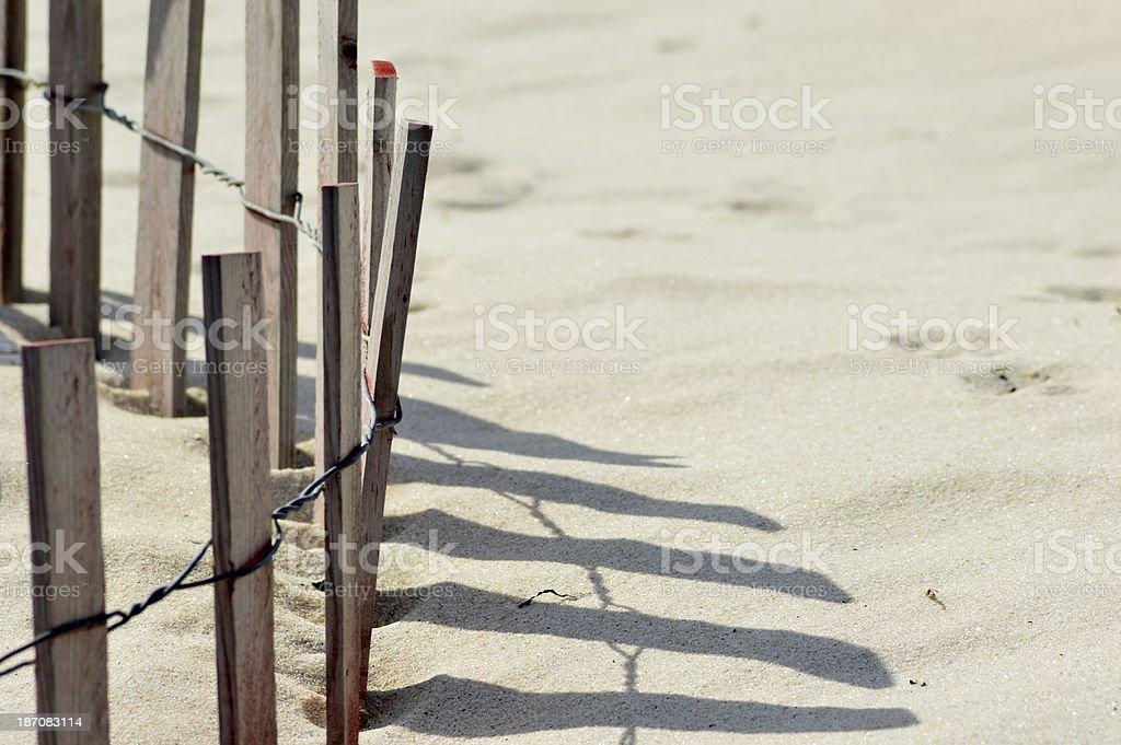 Plage Dune Clôture photo libre de droits