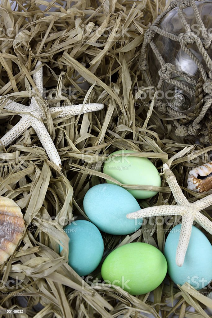Beach Easter Egg Background royalty-free stock photo