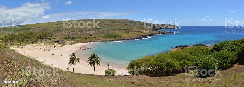 Beach, Easter Island, Chile stock photo