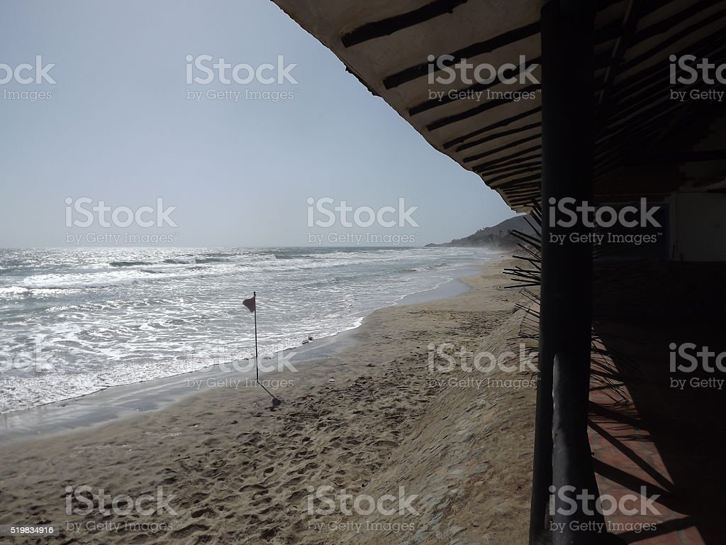 Beach El Tirano's morning stock photo