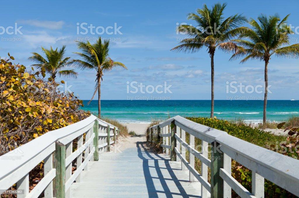 Beach Entrance, Florida stock photo