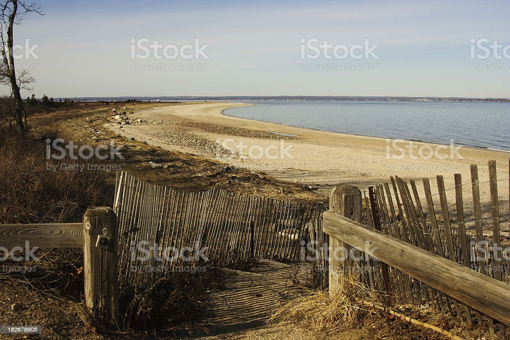 Beach entrance royalty-free stock photo
