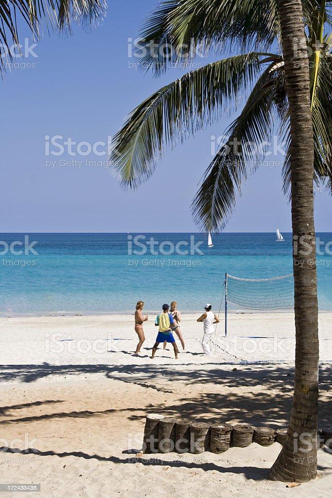 Beach Exercise royalty-free stock photo