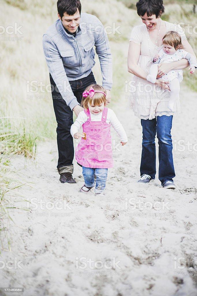 Beach Family Fun stock photo