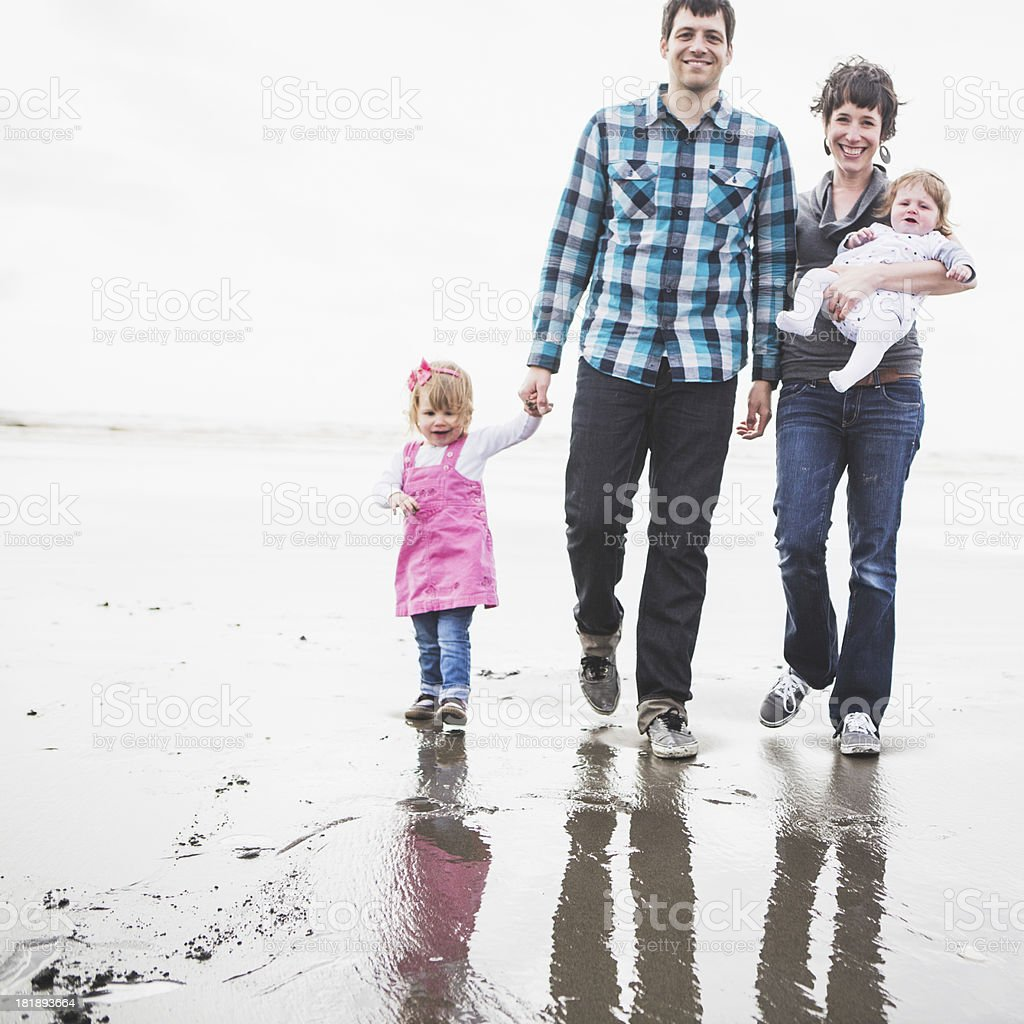 Beach Family Fun royalty-free stock photo