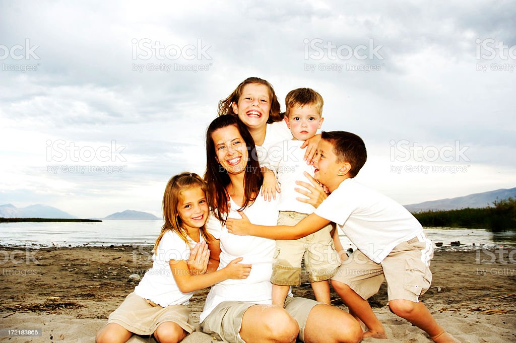 Beach Family royalty-free stock photo