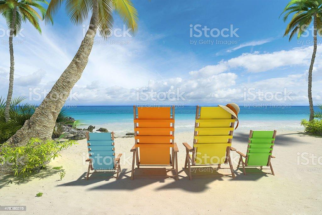 Beach family stock photo