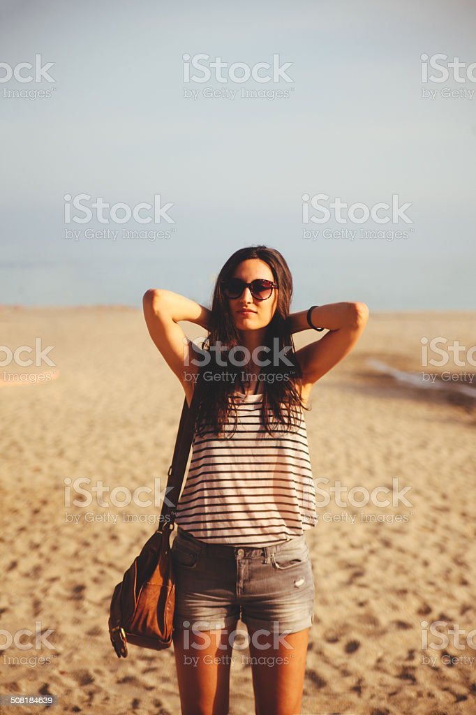 beach fashion stock photo