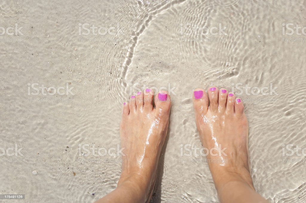 Beach feet stock photo