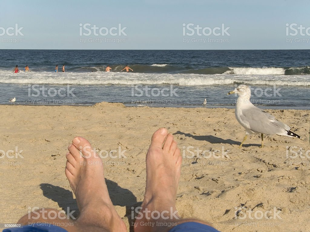 Beach Feet royalty-free stock photo