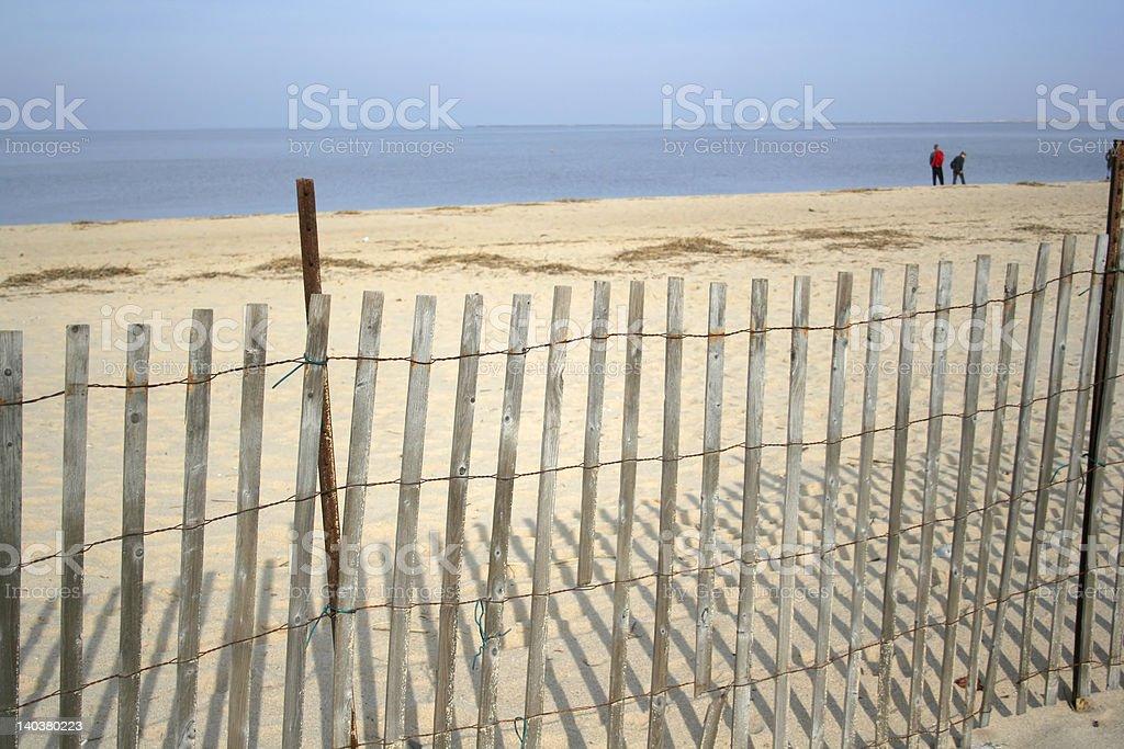 Plaża Ogrodzenie zbiór zdjęć royalty-free