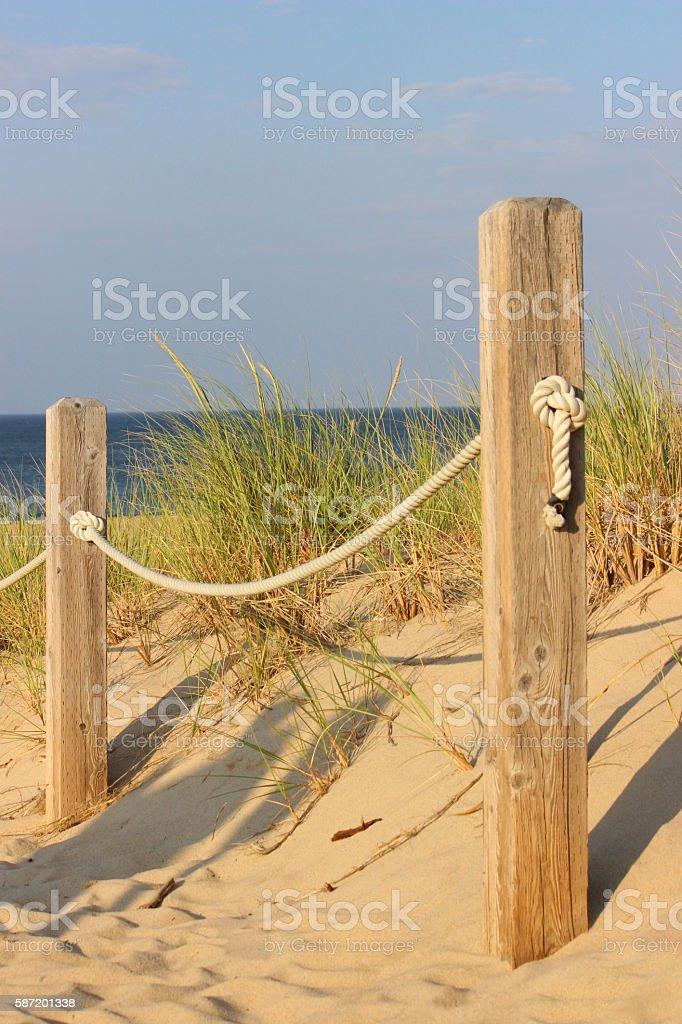 Beach Fence stock photo
