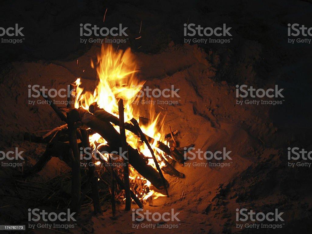 Beach Fire royalty-free stock photo