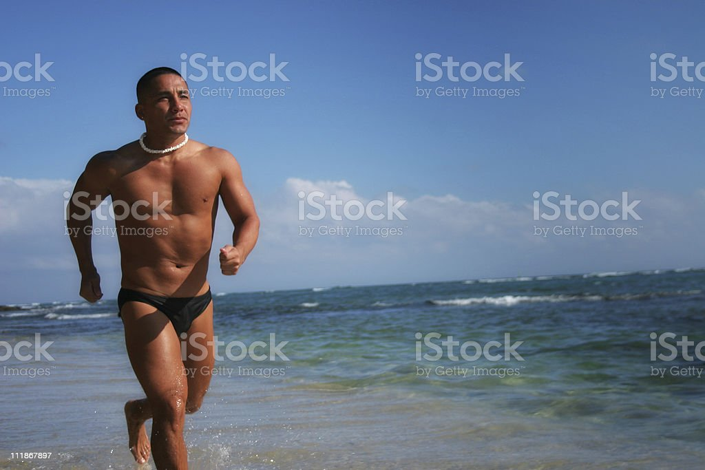 Beach Fitness royalty-free stock photo