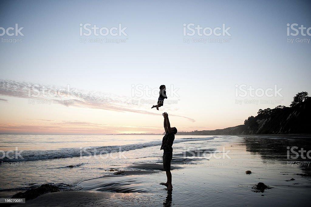 Beach flying royalty-free stock photo