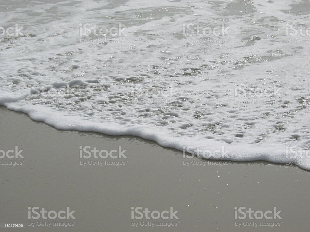beach foam royalty-free stock photo