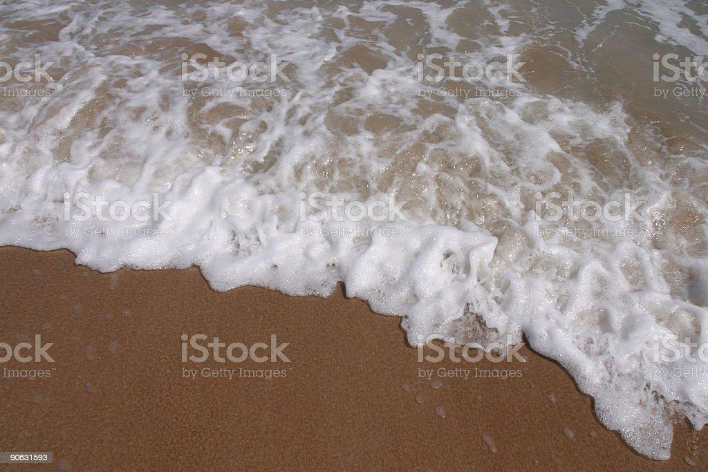 Beach Foam royalty-free stock photo