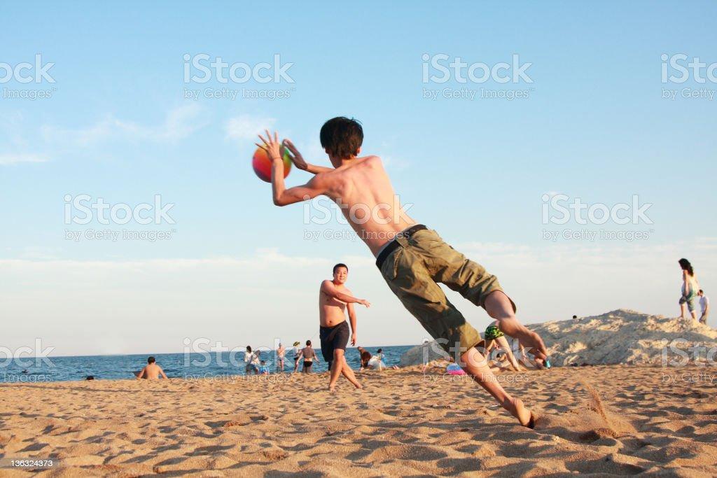 beach football royalty-free stock photo
